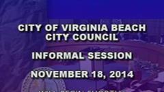City Council Informal - 11/18/2014 Cont'd